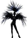 舞蹈演员跳舞讽刺时事的滑稽剧歌舞女郎妇女 免版税库存图片