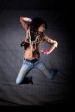 舞蹈演员跳 免版税库存图片