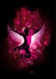 舞蹈演员迪斯科例证粉红色 免版税图库摄影