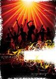 舞蹈演员迪斯科海报 库存照片