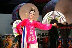 舞蹈演员韩文 免版税库存图片