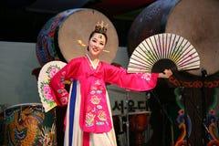 舞蹈演员韩文 库存图片
