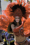 舞蹈演员gras mardi 库存照片