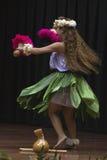 舞蹈演员hula日语 免版税库存照片