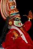 舞蹈演员kathakali 库存图片