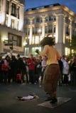舞蹈演员perfomer街道 免版税库存图片