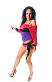舞蹈演员ragga白色 库存图片