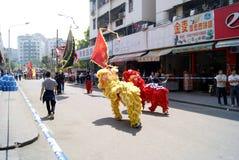 舞蹈狮子 库存图片