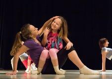 舞蹈生成现代性能 库存图片