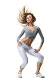 舞蹈白人妇女年轻人 免版税库存图片