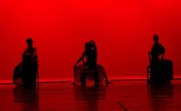 舞蹈红色 免版税图库摄影