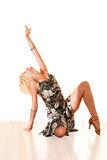 舞蹈纵向妇女年轻人 免版税图库摄影