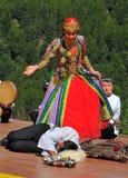 舞蹈组乌兹别克斯坦 免版税库存照片