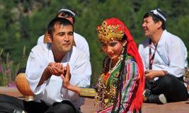 舞蹈组乌兹别克斯坦 免版税库存图片