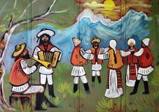 舞蹈罗马尼亚传统 库存照片
