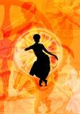 舞蹈表单odissi轮子 库存照片