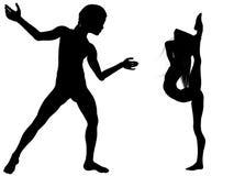 舞蹈让s 免版税库存照片