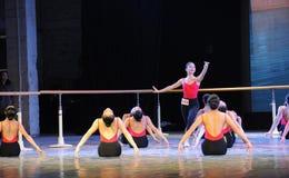 舞蹈训练基本的技巧  库存照片