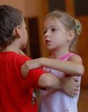 舞蹈谈话 免版税库存照片