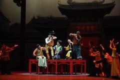 舞蹈过去的戏曲沙湾事件广东全国首先音乐乐队这行动  免版税库存照片