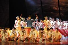 舞蹈过去的戏曲沙湾事件广州龙小船种族这第三次行动  库存图片