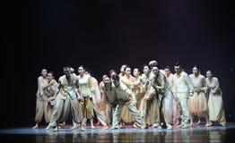 舞蹈过去的戏曲沙湾事件战争难民这第三次行动  免版税库存图片