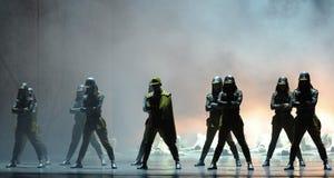 舞蹈过去的戏曲沙湾事件日本军队这第三次行动  免版税库存照片