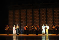 舞蹈过去的戏曲沙湾事件的一个音乐家庭这前奏 免版税库存照片