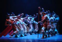 舞蹈过去的戏曲沙湾事件的船员工作者的圣歌这前奏 免版税库存图片