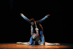 舞蹈过去的戏曲沙湾事件附庸这第三次行动时运  库存照片