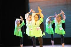 舞蹈这全国舞蹈训练的部门的体质教训 库存照片