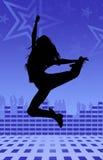 舞蹈迪斯科女孩 免版税库存照片