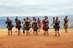 舞蹈部族祖鲁族人 免版税库存图片