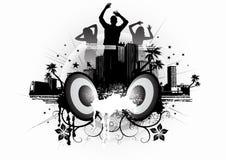 舞蹈都市蒸气 免版税图库摄影