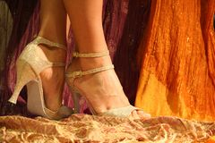舞蹈鞋子 图库摄影
