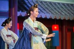 舞蹈韩文传统 免版税图库摄影