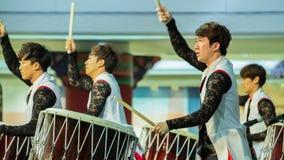 舞蹈韩文传统 免版税库存图片