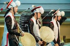 舞蹈韩文传统 库存照片