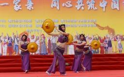 舞蹈-惠安县妇女 免版税库存照片