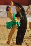 舞蹈doble拉丁paso 库存图片