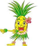 舞蹈hula菠萝 免版税库存照片