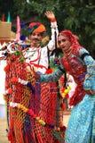 舞蹈rajasthani 库存图片