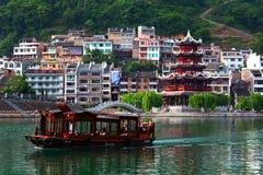舞阳河,中国 免版税库存照片