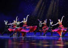 舞伴---西班牙全国舞蹈 库存图片