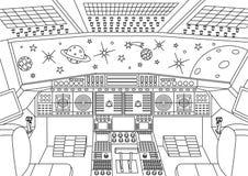 航天器控制板 库存例证