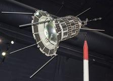 航天学和航空勒布尔热博物馆的内部, 免版税图库摄影