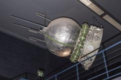 航天学和航空勒布尔热博物馆的内部, 免版税库存图片