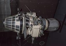 航天学和航空勒布尔热博物馆的内部  图库摄影