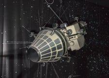 航天学和航空勒布尔热博物馆的内部  免版税库存照片