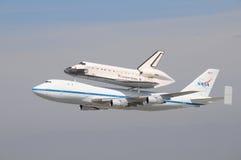 航天飞机努力,洛杉矶2012年 免版税库存图片